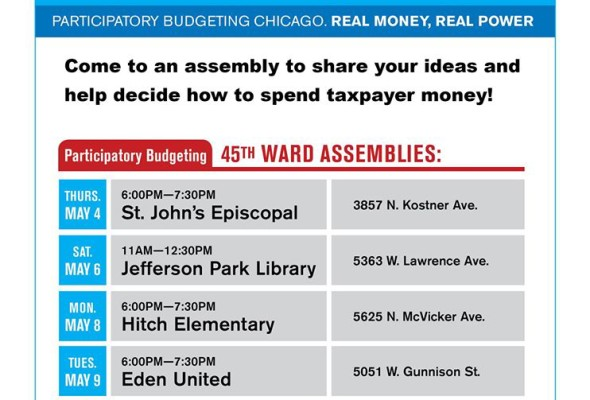 Share your ideas to improve the 45th Ward at a neighborhood assembly!