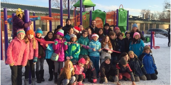 Beaubien Playground Ribbon Cutting