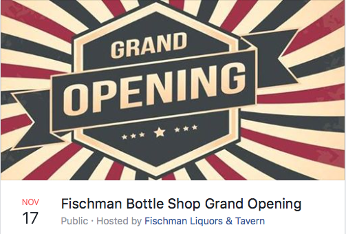 Fish mans Bottle Shop Grand Opening