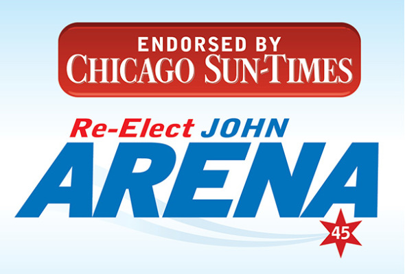 Chicago Sun-Times Endorses Alderman John Arena for Re-Election in 45th Ward