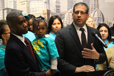 Ald. John Arena pshes for the governor to revive a program providing child care to low-income parents