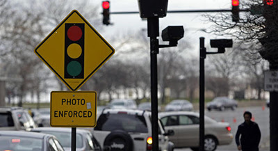 Red Light Cameras Activated